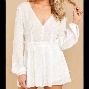 Dresses & Skirts - NWT Pale Ivory/White Romper